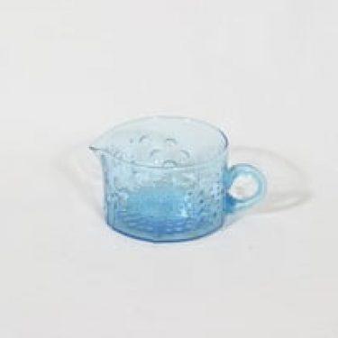 Nuutajärvi Flora kermakko, sininen, suunnittelija Oiva Toikka,