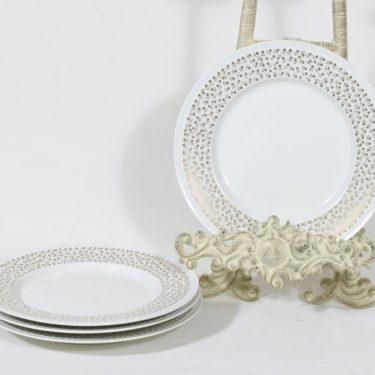 Arabia Kimmel lautaset, 4 kpl, suunnittelija Esteri Tomula, pieni, serikuva