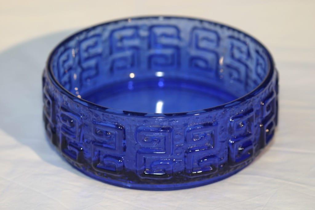 Riihimäen lasi Taalari kulho, sininen, suunnittelija Tamara Aladin,