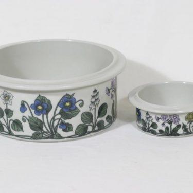 Arabia Flora kulhot, 2 kpl, suunnittelija Esteri Tomula, serikuva