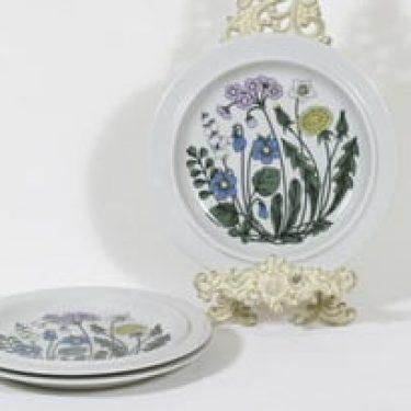 Arabia Flora lautaset, matala, 3 kpl, suunnittelija Esteri Tomula, matala, serikuva