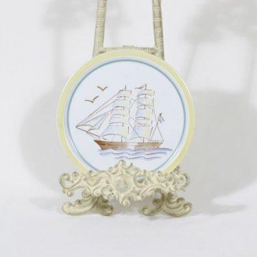 Arabia Sailor koristelaatta, käsinmaalattu, suunnittelija , käsinmaalattu, pieni