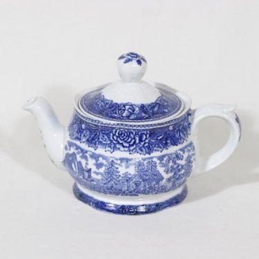 Arabia Maisema teekaadin, sininen, suunnittelija , pieni, kuparipainokoriste