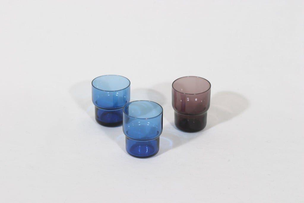 Nuutajärvi Pinottava lasi lasit, 3 cl, 3 kpl, suunnittelija Saara Hopea, 3 cl, pieni