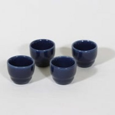 Arabia Kilta munakupit, sininen, 4 kpl, suunnittelija Kaj Franck,