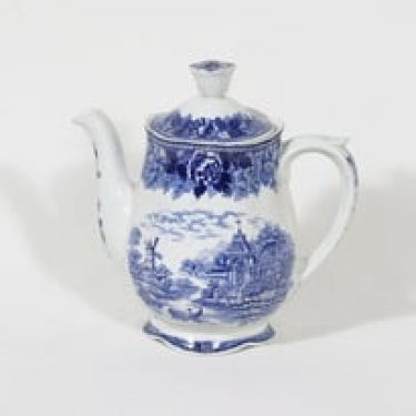 Arabia Maisema kahvikaadin, sininen, suunnittelija , kuparipainokoriste