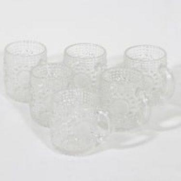Riihimäen lasi Grapponia kupit, 10 cl, 6 kpl, suunnittelija Nanny Still, 10 cl