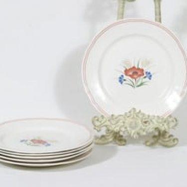 Arabia Kesä lautaset, 6 kpl, suunnittelija , pieni, siirtokuva