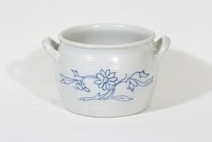 Arabia B 5 ruukku, kukkakuvio, suunnittelija , kukkakuvio, 5.85 l, kobolttimaalattu
