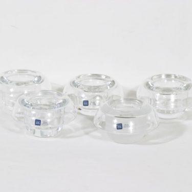 Nuutajärvi Apollo kynttilälyhdyt, kirkas, 5 kpl, suunnittelija Markku Salo,