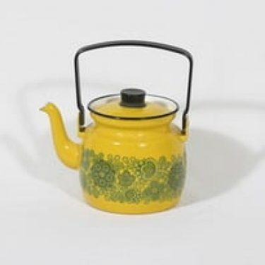 Finel Primavera kahvipannu, keltainen, suunnittelija Raija Uosikkinen, serikuva