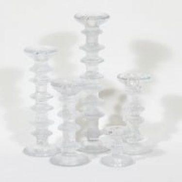 Iittala Festivo kynttilänjalat, eri kokoja, 5 kpl, suunnittelija Timo Sarpaneva, eri kokoja