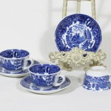 Arabia Maisema kahvikupit, sininen, 3 kpl, suunnittelija , kuparipainokoriste