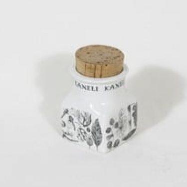 Arabia maustekuvio maustepurkki, kaneli, suunnittelija Esteri Tomula, kaneli, serikuva