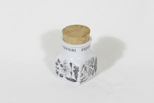 Arabia maustekuvio spice jar, pepper, designer Esteri Tomula, silk screening