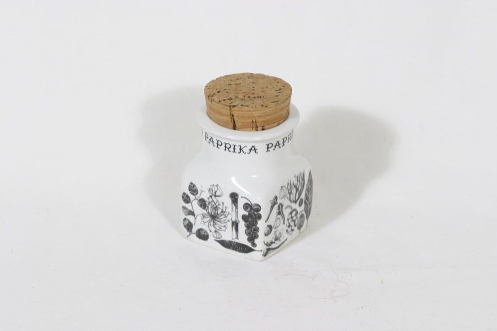 Arabia maustekuvio maustepurkki, paprika, suunnittelija Esteri Tomula, paprika, serikuva