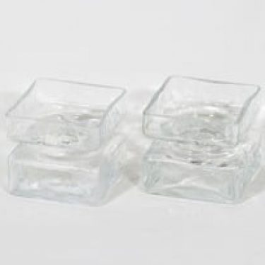 Riihimäen lasi Pala maljakot, koko 2/6, 2 kpl, suunnittelija Helena Tynell, koko 2/6, pieni, kirkas