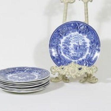 Arabia Maisema lautaset, 8 kpl, suunnittelija , pieni, kuparipainokoriste