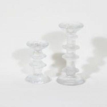 Iittala Festivo kynttilänjalat, eri kokoja, 2 kpl, suunnittelija Timo Sarpaneva, eri kokoja