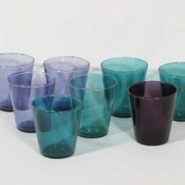 Nuutajärvi Viola lasit, eri värejä, 8 kpl, suunnittelija Kaj Franck,