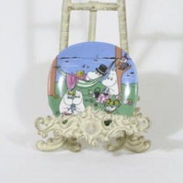 Arabia Muumi koristelautanen, Perheidylli, suunnittelija Tove Slotte, Perheidylli, pieni, serikuva