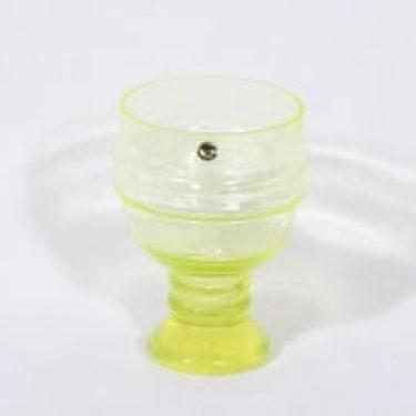 Riihimäen lasi Sulttaani malja, keltainen, suunnittelija Nanny Still,