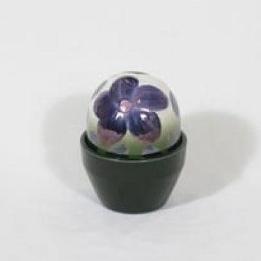 Arabia Ikikukka koriste-esine, lila, suunnittelija Heljä Liukko-Sundström,
