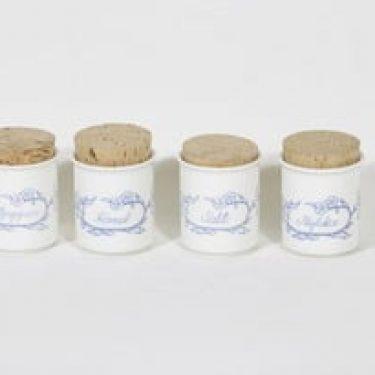 Arabia Sininen keittiö maustepurkit, 4 kpl, suunnittelija ,