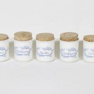 Arabia Sininen keittiö maustepurkit, 5 kpl, suunnittelija ,