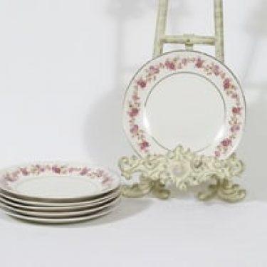 Arabia Anneli lautaset, 6 kpl, suunnittelija Olga Osol, pieni, siirtokuva
