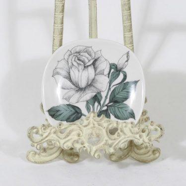 Arabia Rosa koristelautanen, Rosa Elida, suunnittelija Esteri Tomula, Rosa Elida, pieni, serikuva