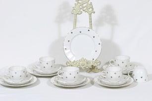 Arabia Hippu kahvikupit ja lautaset, 6 kpl, suunnittelija , painokoriste