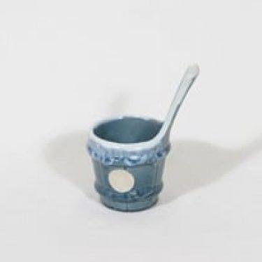 Kupittaan savi koriste-esine, turkoosi, suunnittelija , pieni