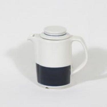 Arabia Kasino kahvikaadi, suunnittelija Göran Bäck, raitakoriste, pieni
