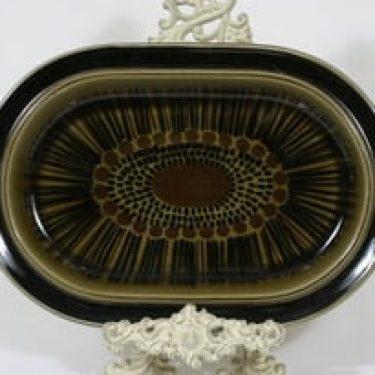 Arabia Kosmos vati, suunnittelija Gunvor Olin-Grönqvist, soikea, puhalluskoriste, retro