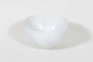 Arabia FK malja, riisiposliini, suunnittelija Friedl Holzer-Kjellberg, riisiposliini, suuri, massasigneerattu