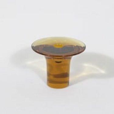 Riihimäen lasi Ambra kynttilänjalka, signeerattu, suunnittelija Nanny Still, signeerattu