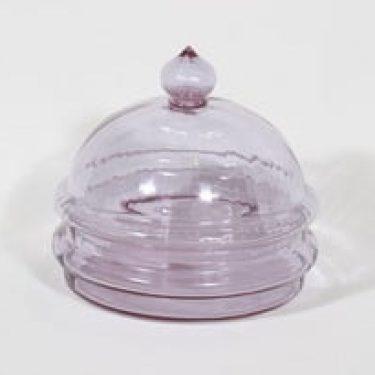 Riihimäen lasi Sulttaani juustokupu/ kaviaariastia, ametisti, suunnittelija Nanny Still,