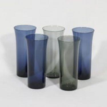 Nuutajärvi Trumpetti lasit, eri värejä, 5 kpl, suunnittelija Kaj Franck,