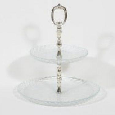 Riihimäen lasi Kehrä kerroskakkuvati, kirkas, suunnittelija Nanny Still,