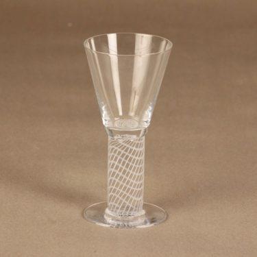 Nuutajärvi Filigran white vine glass, filigree design Heikki Orvola