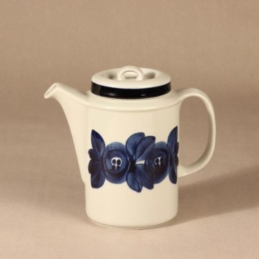 Arabia Anemone coffee pitcher, hand-painted design Ulla Procope