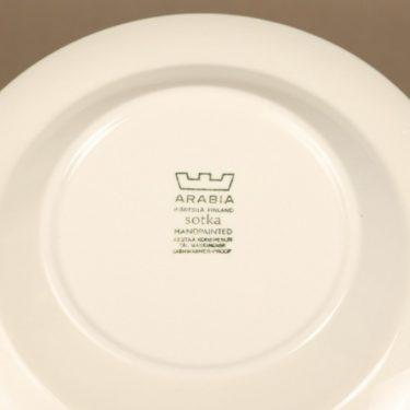Arabia Sotka lautanen, syvä, suunnittelija Raija Uosikkinen, syvä, käsinmaalattu kuva 3