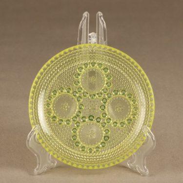 Riihimäen lasi Grapponia lautanen, pieni, 3 kpl, suunnittelija Nanny Still, pieni