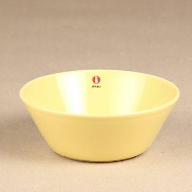 Iittala Teema kulho, keltainen, suunnittelija Kaj Franck, keltainen lasite