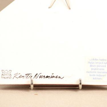 Arabia Runon mailla koristelaatta, suunnittelija Kerttu Nurminen, serikuva, signeerattu kuva 2