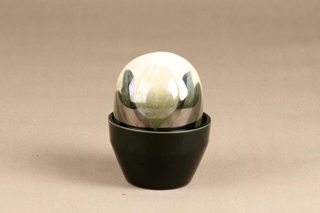 Arabia Ikikukka Tulppaani koriste-esine, valkoinen, suunnittelija Heljä Liukko-Sundström, käsinmaalattu
