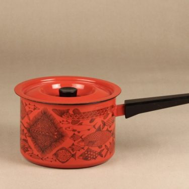 Finel Neptun saucepan, red, designer Esteri Tomula, silk screening
