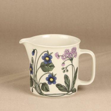 Arabia Flora jug, 1 l, designer Esteri Tomula, flower theme, silk screening, retro