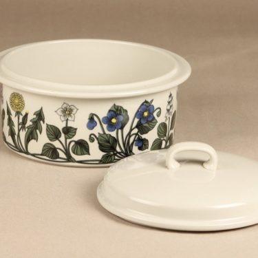 Arabia Flora vuoka, kannellinen, suunnittelija Esteri Tomula, kannellinen, serikuva kuva 2